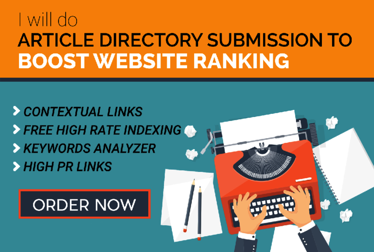 2000 Article Directories Backlinks from Contextual site