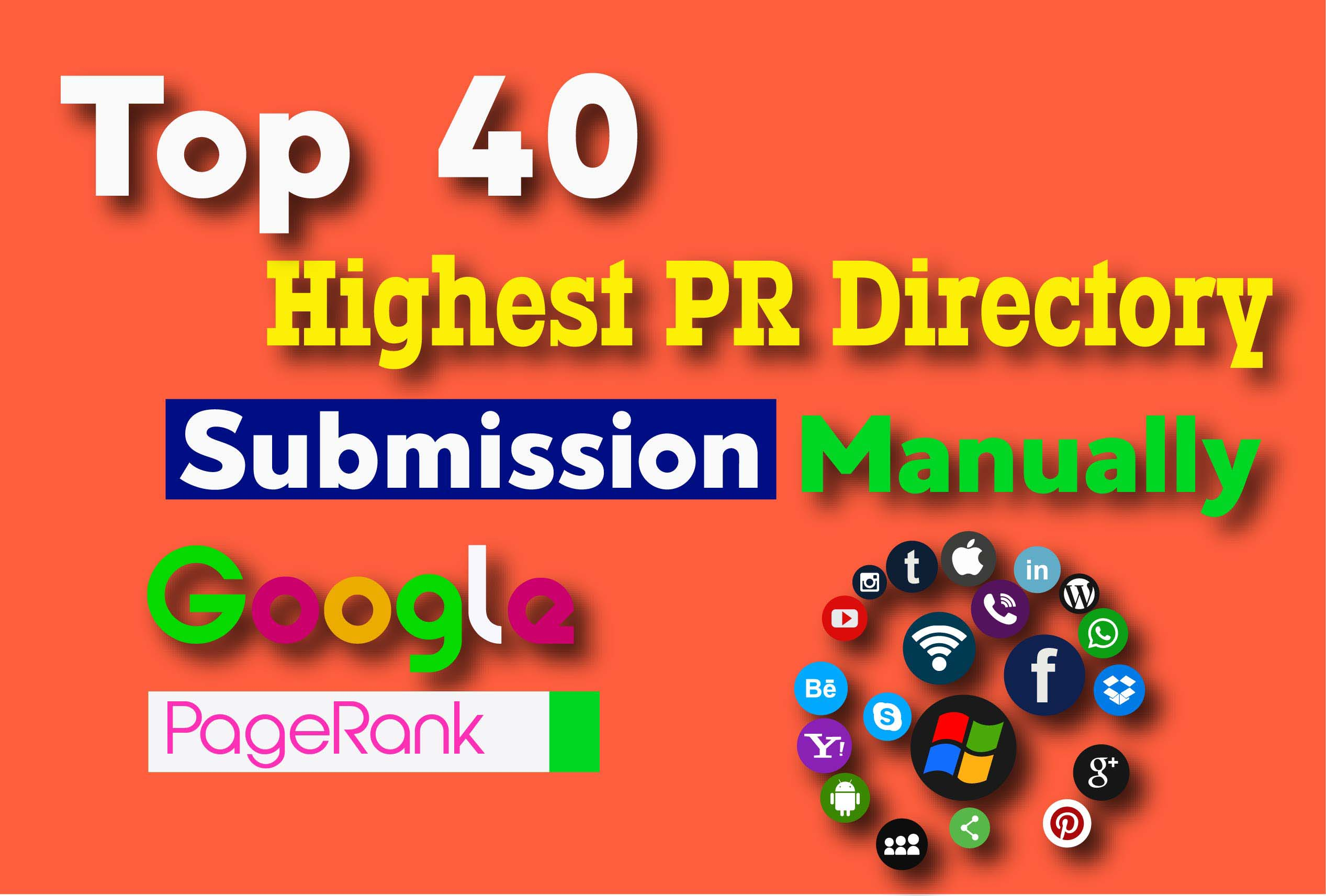 Do 40 High PR Directory Submissions Service Manually
