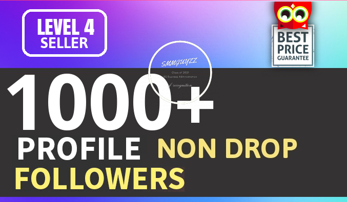 Add Fast 1000+ Profile Followers High Quality NON DROP
