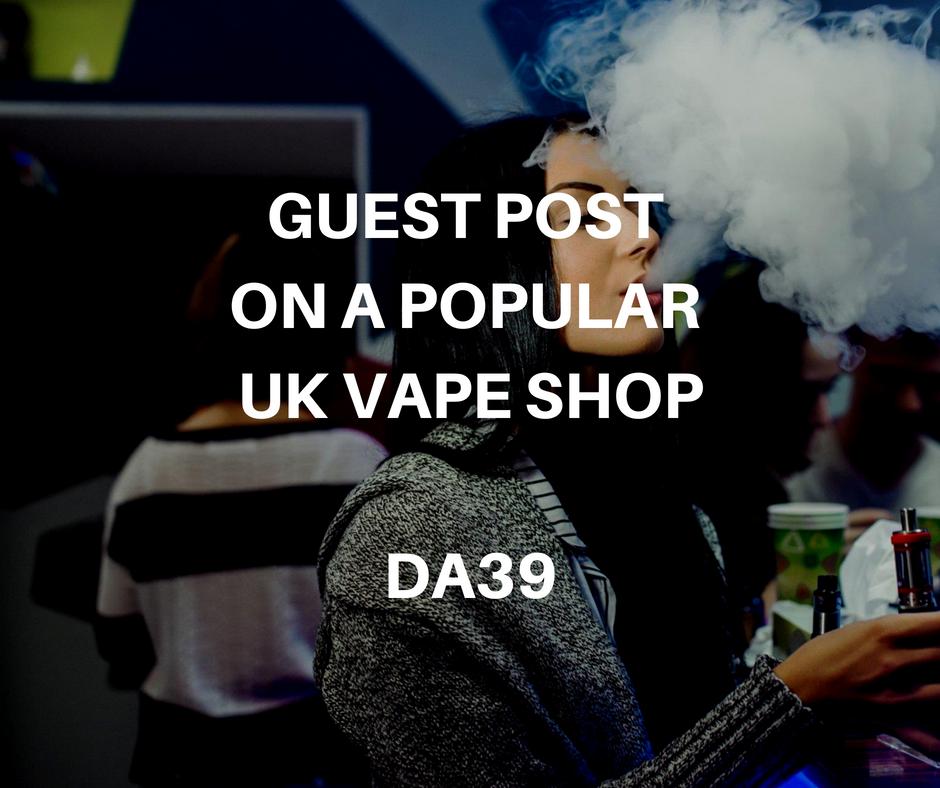 Guest Post on an Online UK Vape Shop