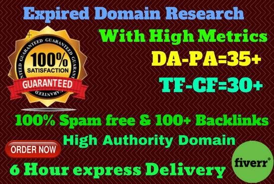 Research High Metrics Expired Domain For Pbn