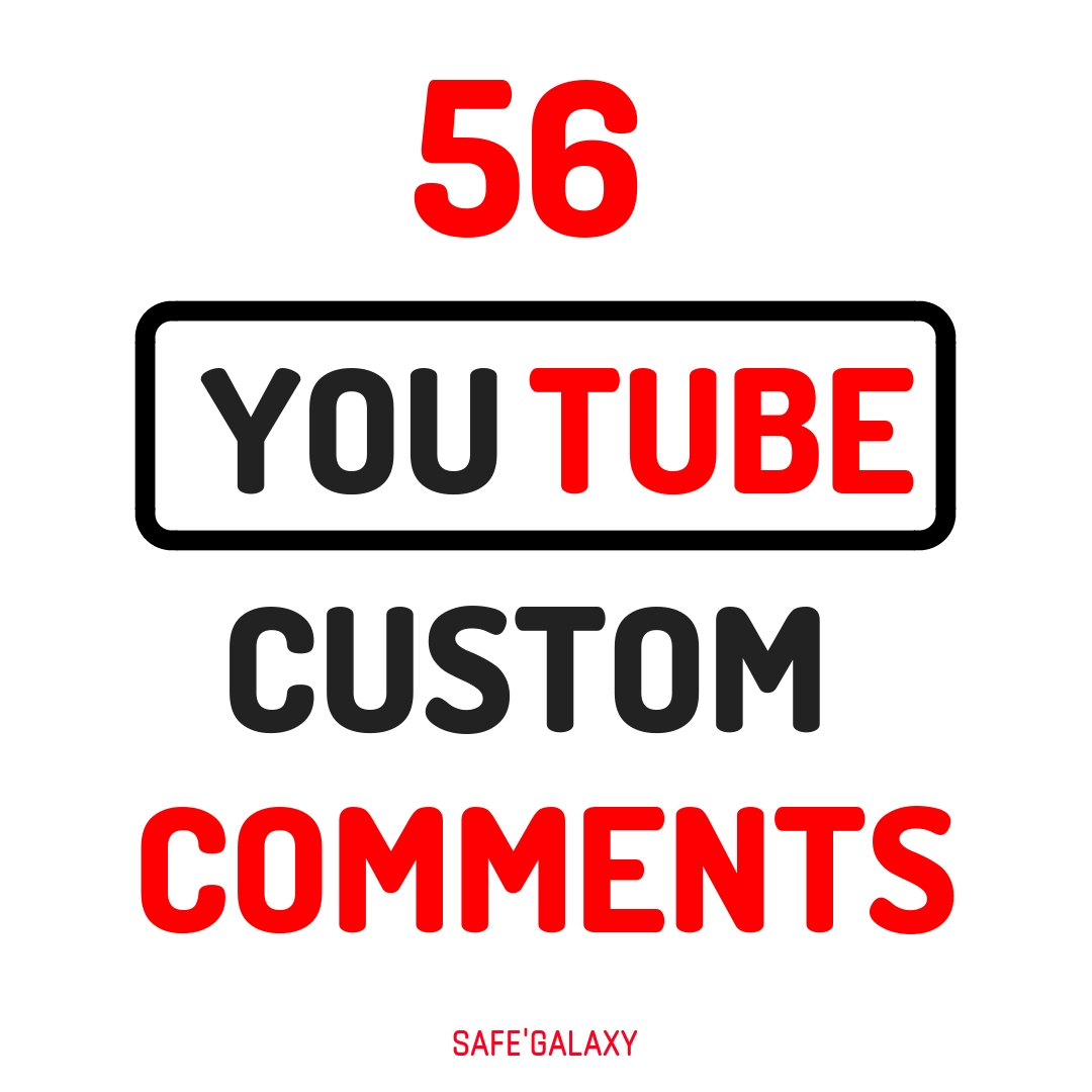 Provide You Fast 56 Y/Tube Video Custom Comments Swiftly 5-8 Hours Delivery