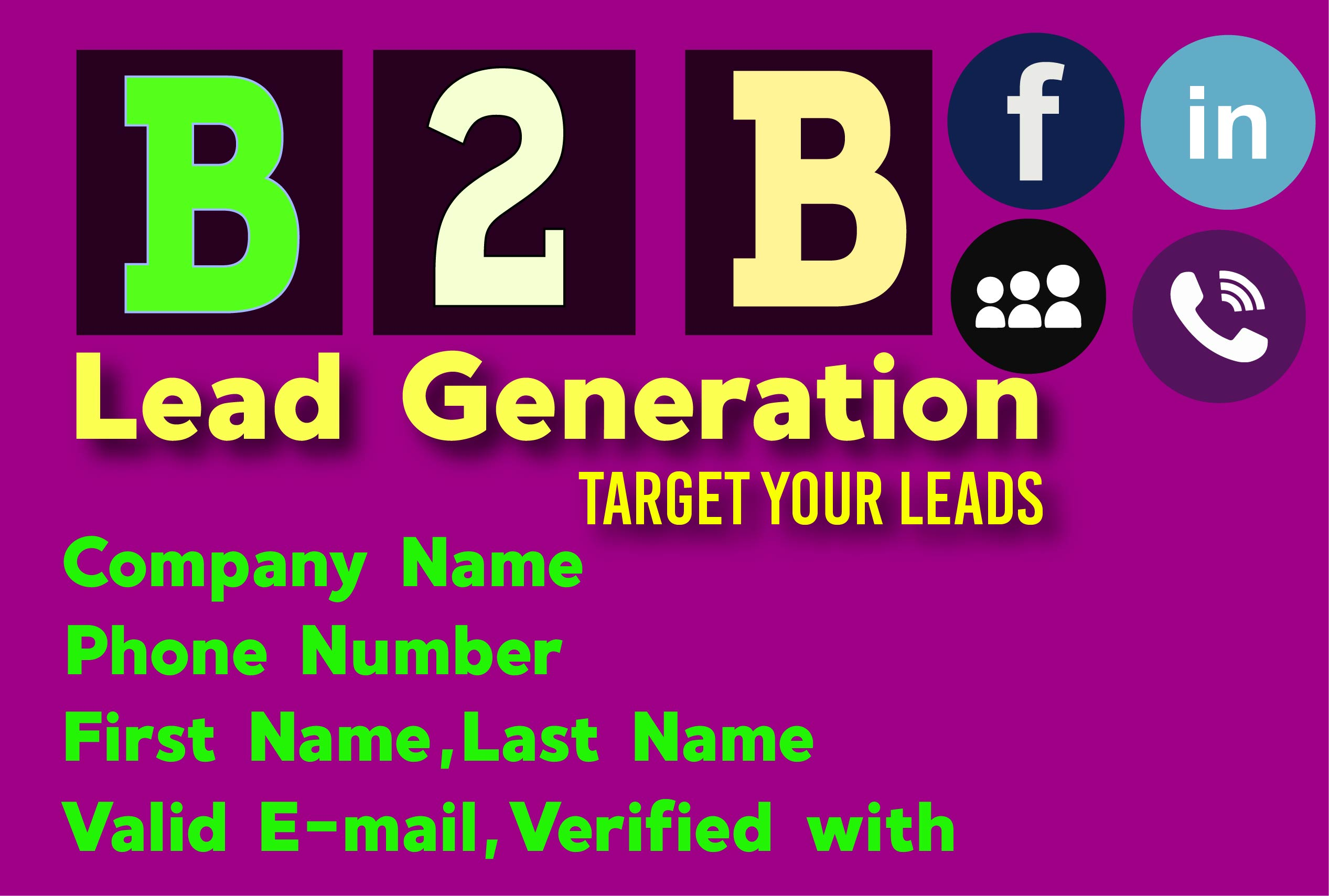 Do B2b Lead Generation, Any Targeted Lead Generation