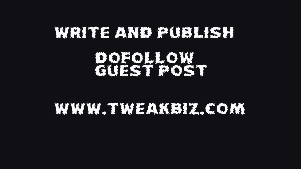Write and publish guest post on real business site