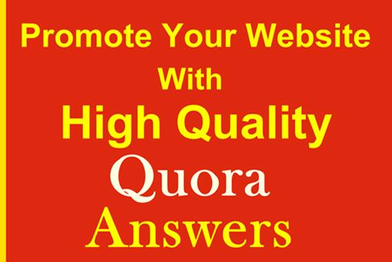 High Quality 10 Quora answers for your website ranking