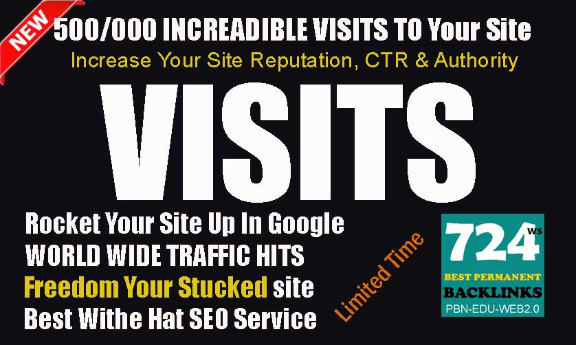 Get 500/000 Worldwide Traffic Visits To Improve Google and Alexa Rank