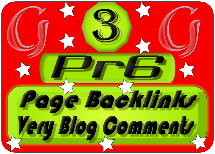 Creat Actual 3 PR6 Page Backlink Blog Comments