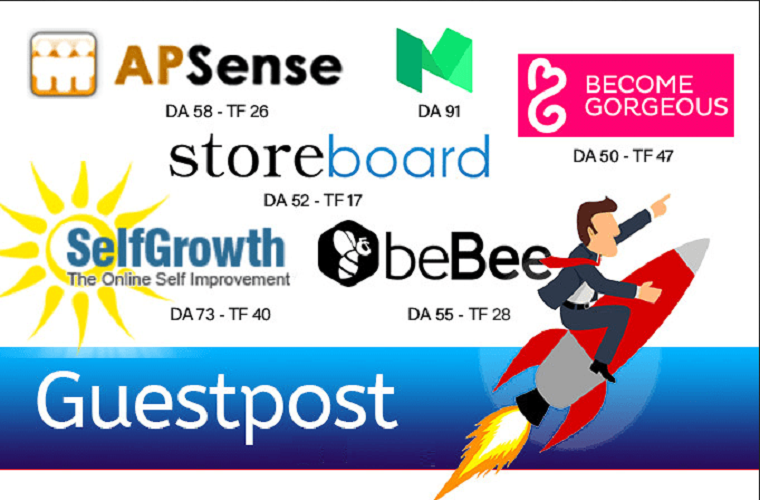 I will write a guest post on selfgrowth, apsense, bebee or storeboard