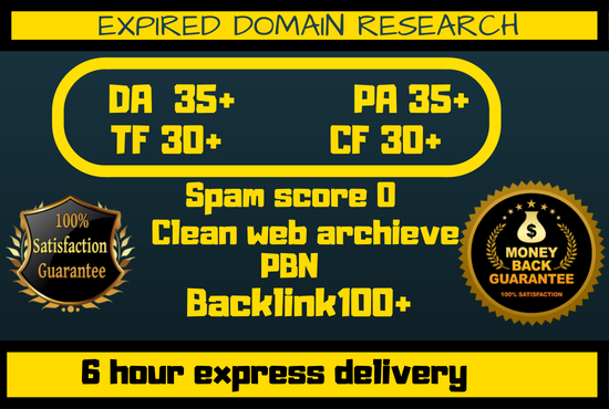 Research High Metrics Expired Domain With In 6 Hours