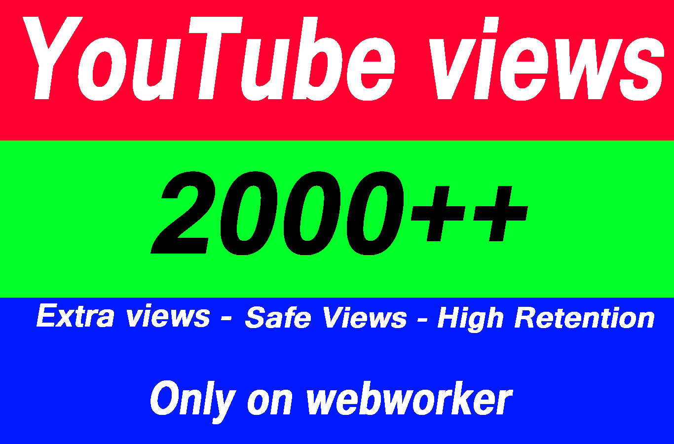 Get 2000 High Quality Views with choice Extra service 1000, 3000, 4000, 5000, 6000, 7000, 8000, 9000,10000, 20000 and 50,000, 50k, 100,000 100k Views