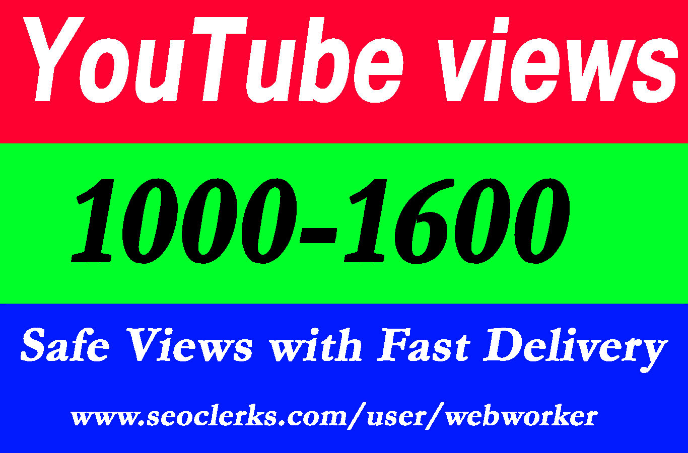 1000-1600 video Views with extra service 1000 1k 2k 3k 4k 5k 6k 7k 8k 9k 10K 15K 20K 25K 40K 50K 100K Or 3000 4000 5000 6000 7000 8000 9000 10000 20000 30000 40000 200K 500K