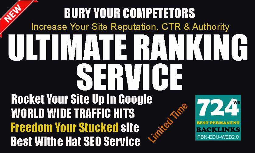 Best Ranking Service- Bury Your Competitors- Ultimate PBN Package- Guaranteed