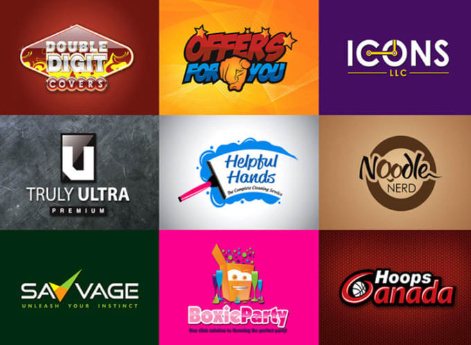 logo Design in 5 Different Looks & Shapes includi...