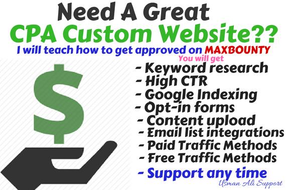 Get Custom CPA Website or Affiliate Website and Teach
