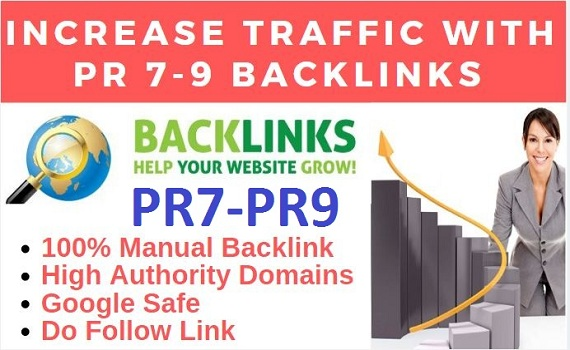 Create 12 High Quality PR 7-9 Backlink For Increase Your Website traffic