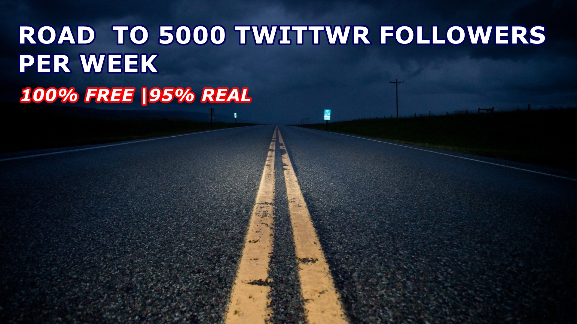 Road to 5000 twitter followers per week