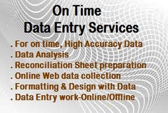 I want to do any type of Data Entry, Data Analysis, ...