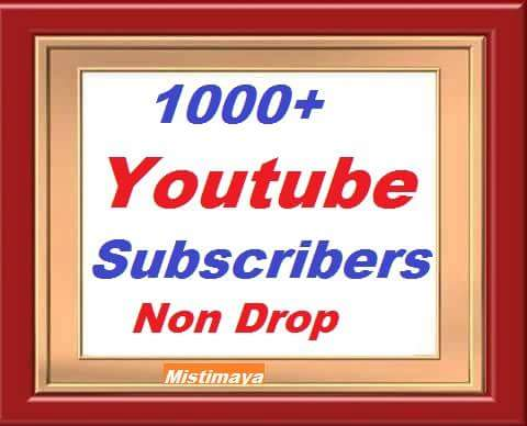 1000/1k Youtube subscribers non drop give you super fast