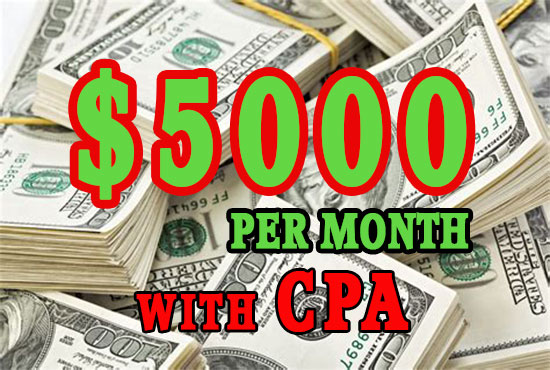 How to earn 5000 dollars a month with CPA marketing