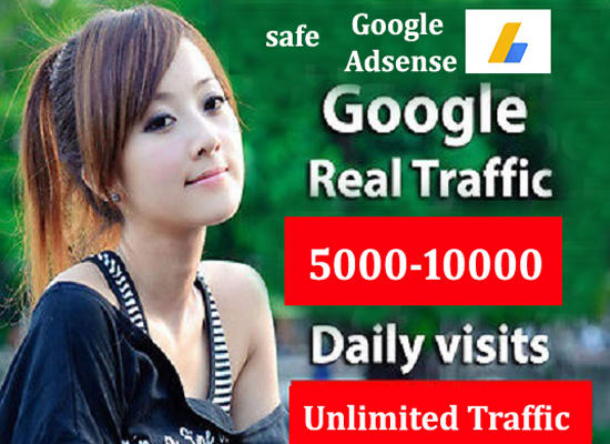 Drive adsense safe Traffic For Your Website daily upto 10k
