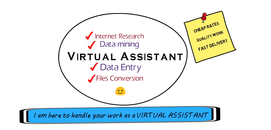 I will do DATAENTRY or any work as a Virtual Assistant