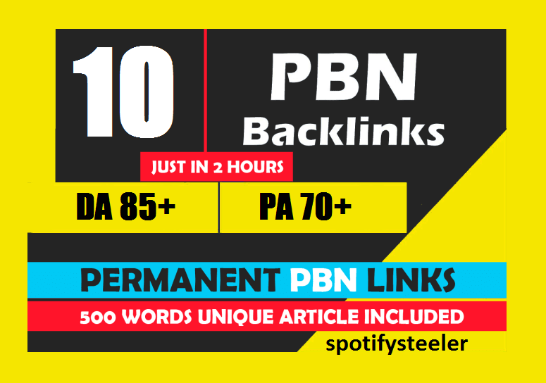Manually 10 PBN Permanent Backlinks On DA 85+ PA 70+ Links To Skyrocket Your Website SEO Ranking On Alexa And Google First Page