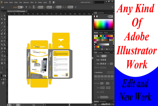 I will print design adobe illustrator work
