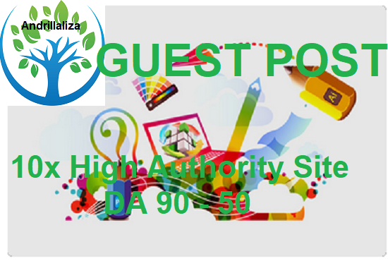 Write & Publish 7x High Authority Guest Post Da90...