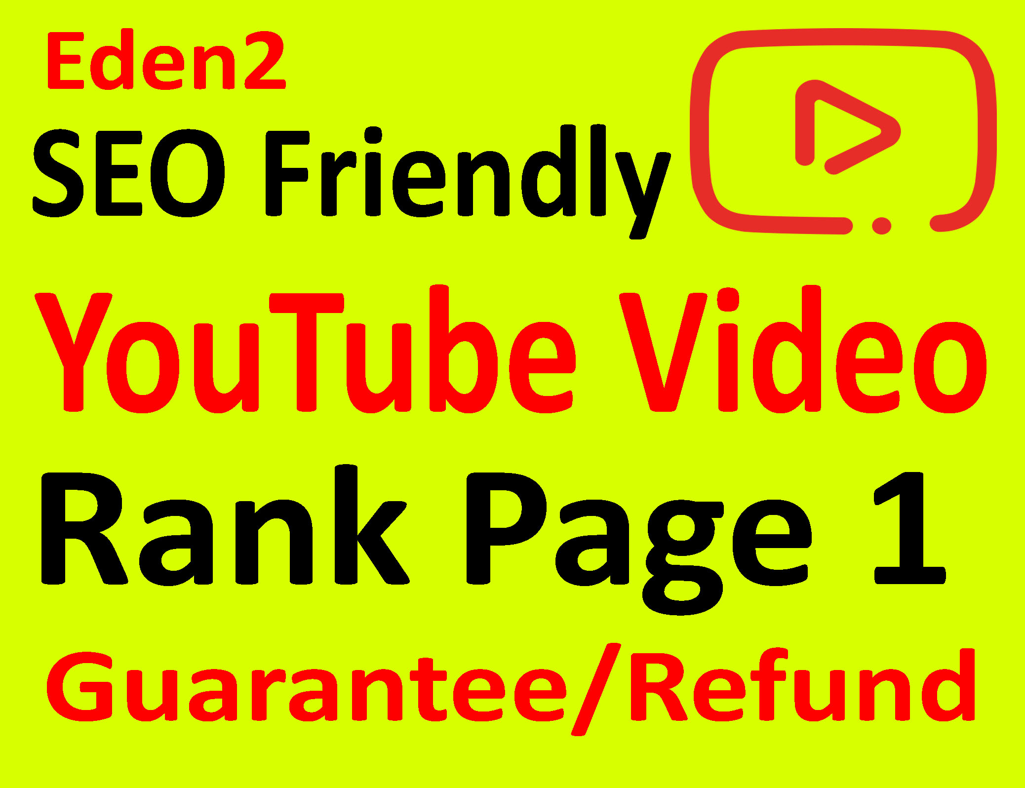 YouTube VIDEO TOP 3 GUARANTEED Update September 2018 - Full Refund Guarantee