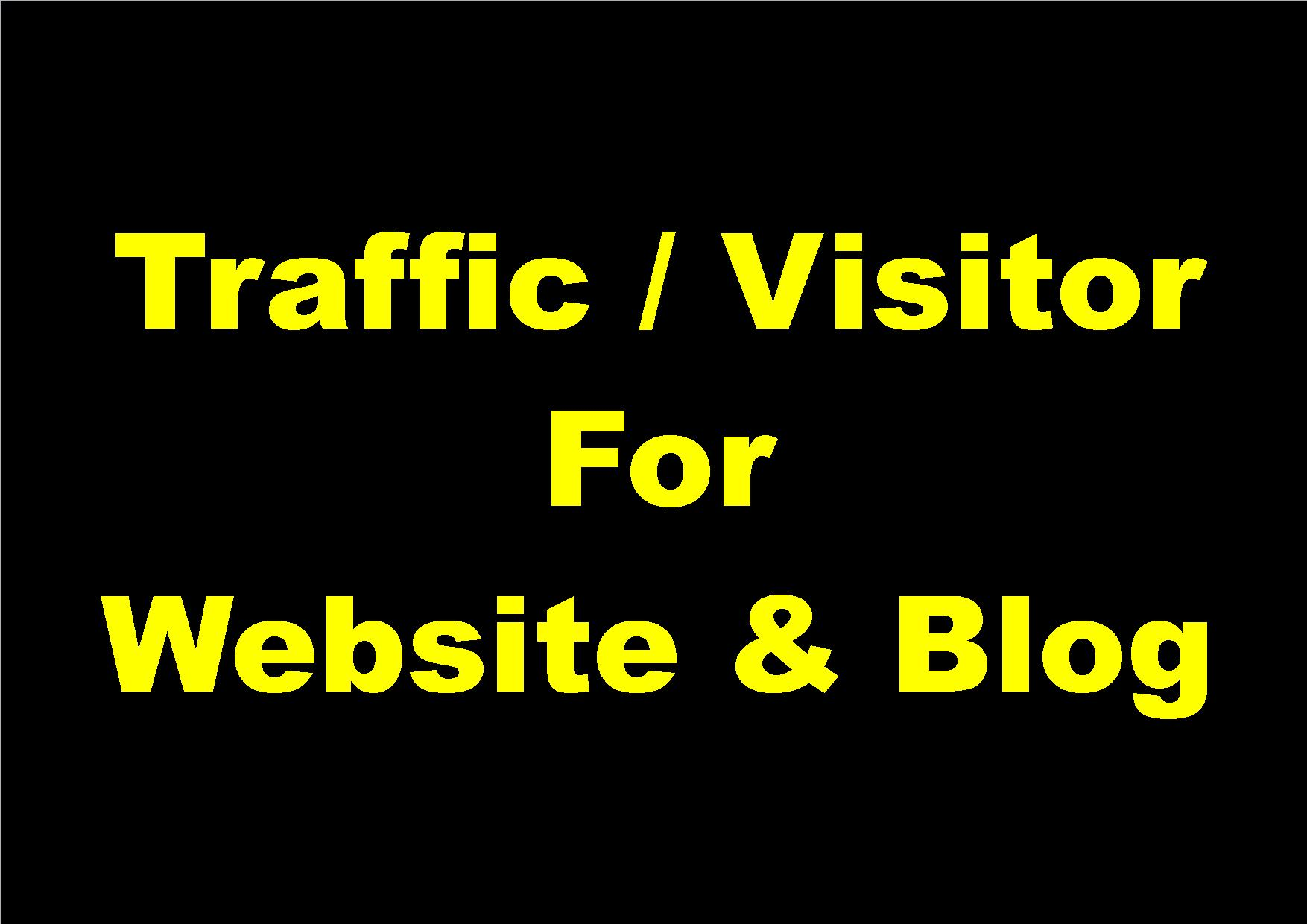 4,000+ Daily Visitors For 5 days for Website & Blog