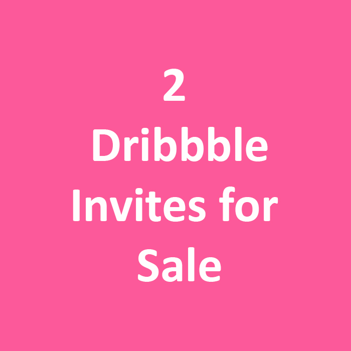 Selling 2 Dribbble Invites - Don't miss your chance to be drafted