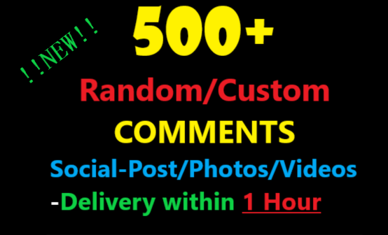 Get 500+ Random/Custom  On your social Photos/Video/Post with 1hour