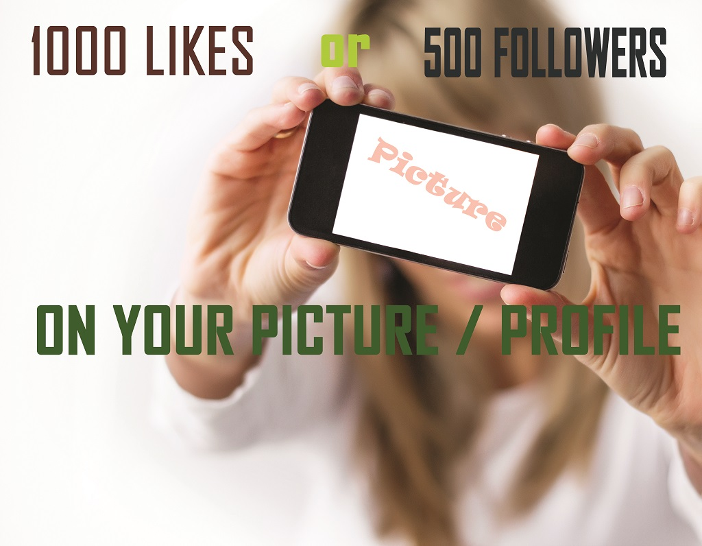 5000 LIKES OR 1000 FOLLOWERS IN YOUR PROFILE