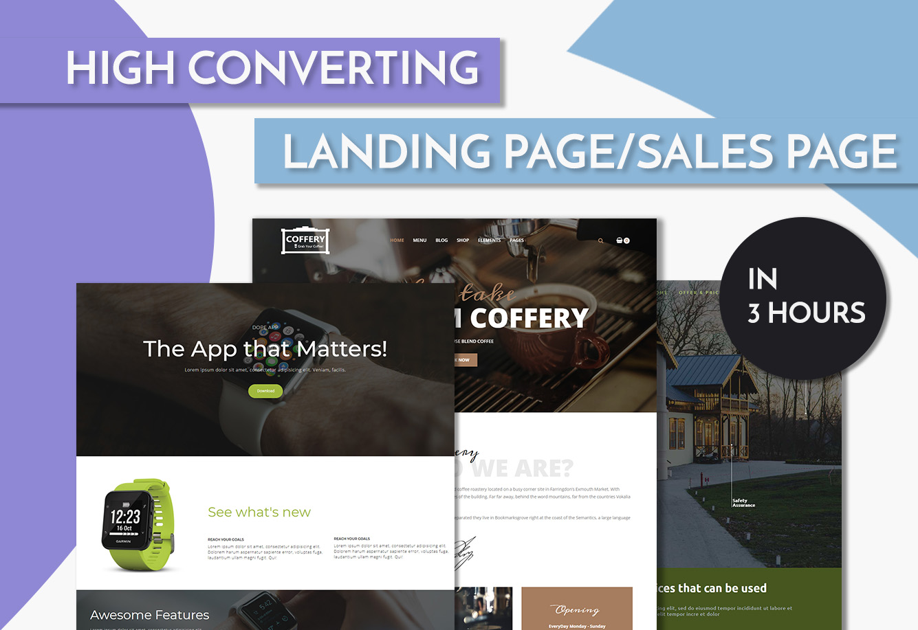 Creating Product Oriented Landing Page Service