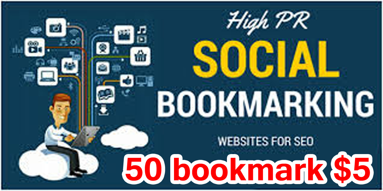 50+High quality Manually Social Bookmarks Backlinks