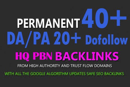 Create 40+ High DA PA TF CF 35 to 15 Guaranteed