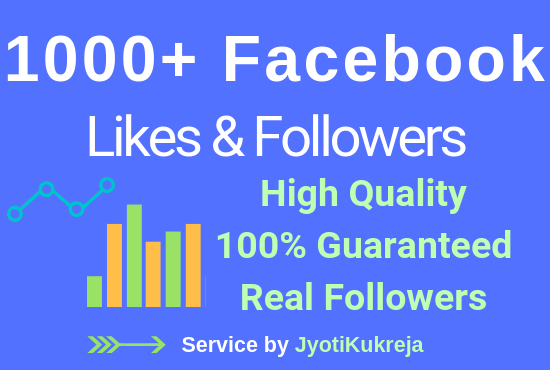 1000+ Non-Drop High Quality FB PAGE Likes & Real Followers in just
