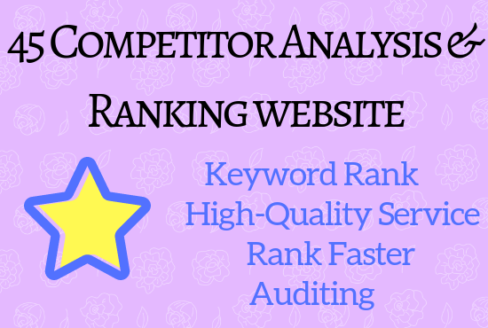 45 Competitor Analysis & Ranking through Off-Page SEO