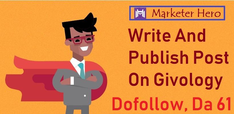 Dofollow,  Da61 Write and Publish Post On Givology