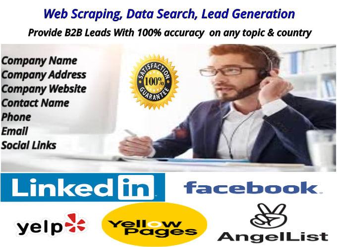 Web Scraping, Data Search, Lead Generation