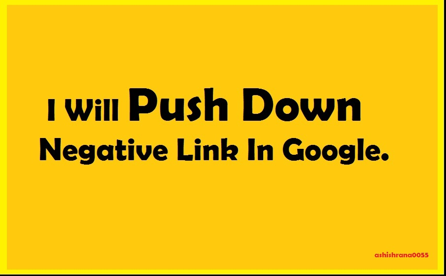 Push Down Negative Link In Google