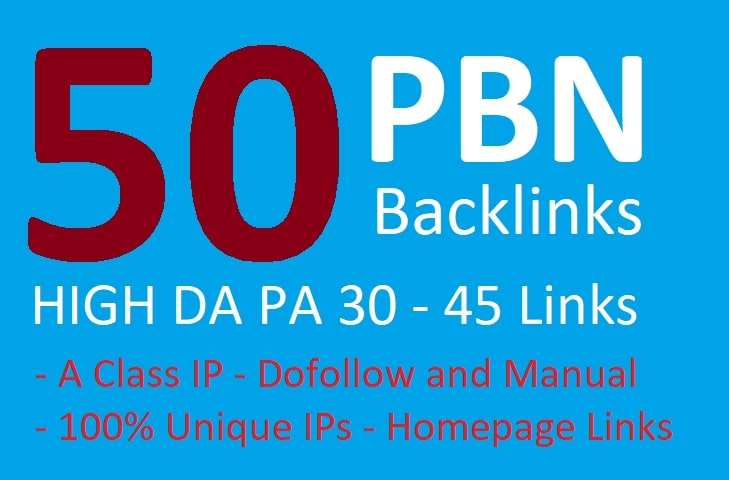 Boost your Rank with 50 Powerful Homepage PBN Backlinks