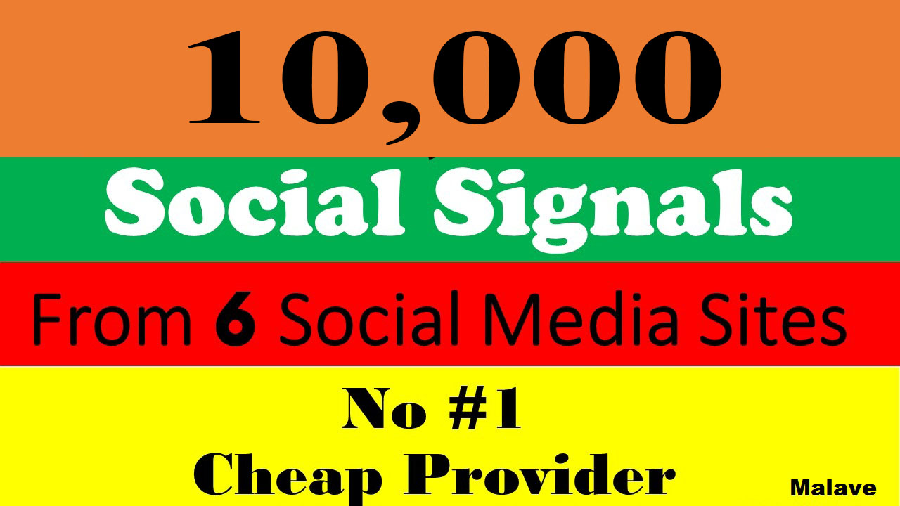 Best Offer 10,000 Powerful Manually Top Seo Social Signals From Social Media