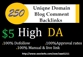 I Will Do 250 Blog Comments On Unique Domains High Da Pa Tf Cf
