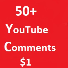 Add 50+ YouTube custom comments Life Time Guarantee instant start 1-2 hours Delivery