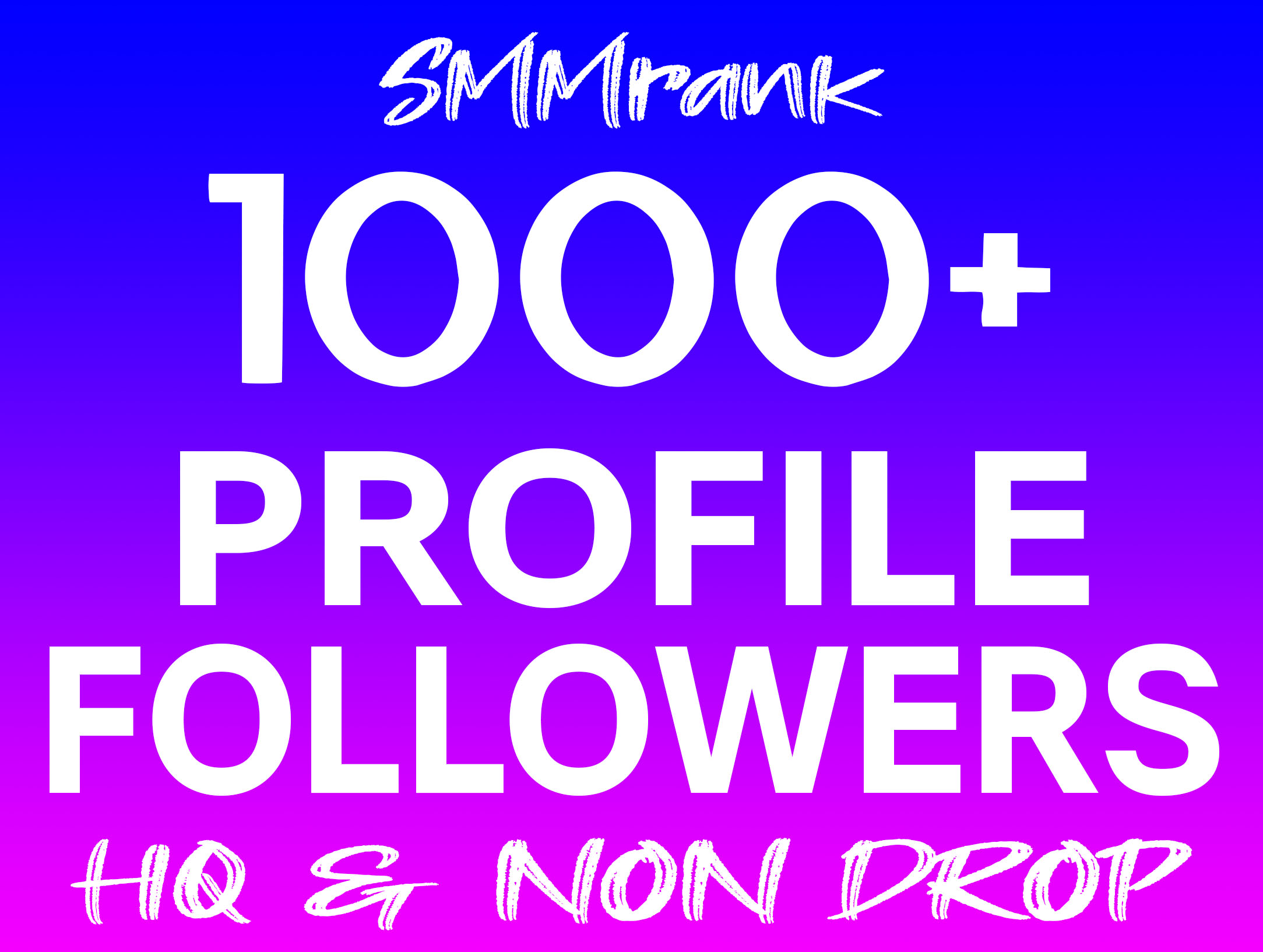 Instant 1000+ Profile Followers Real High Quality & Non Drop