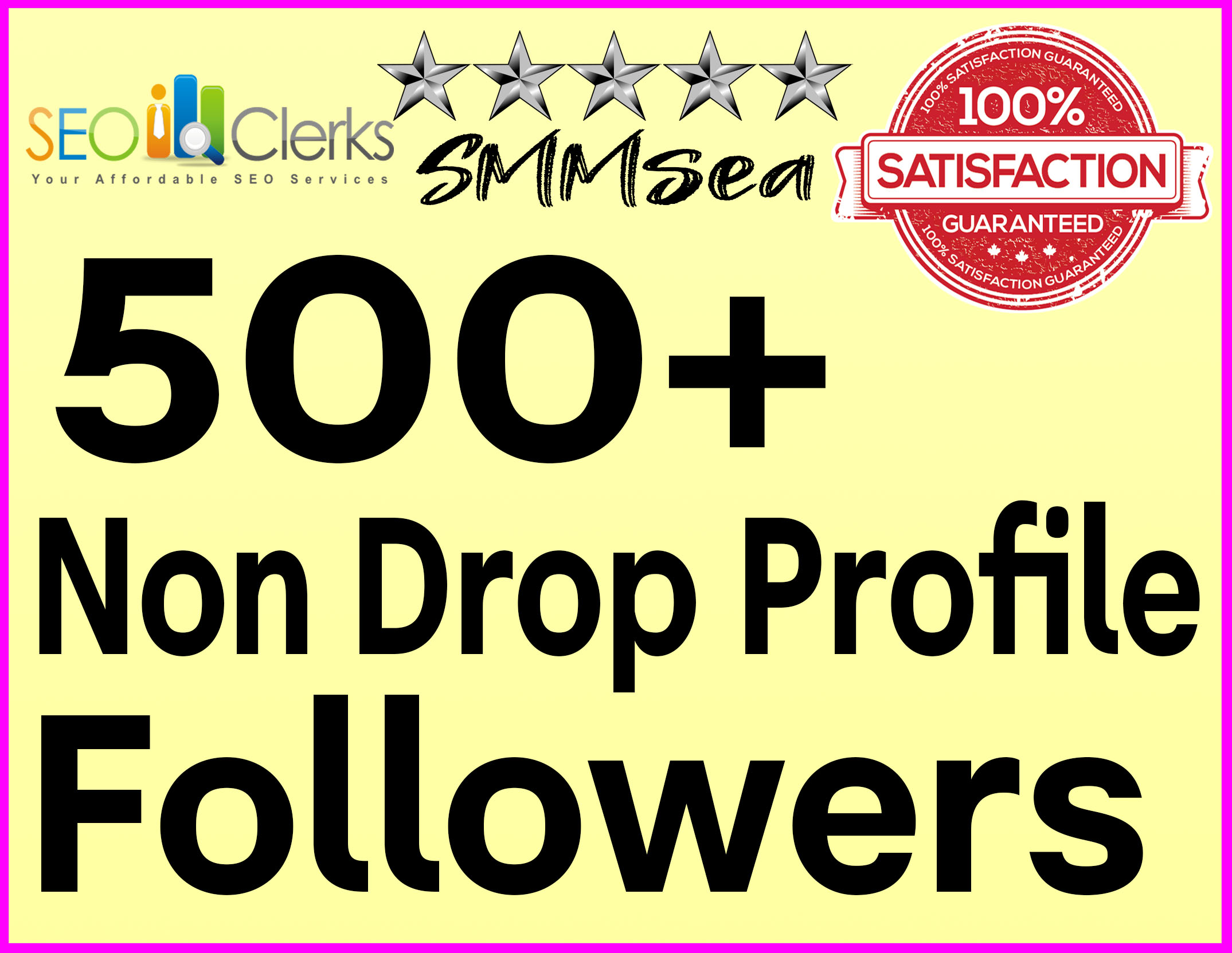 Add 500+ Profile Followers High Quality & Non Drop Within 12 hours