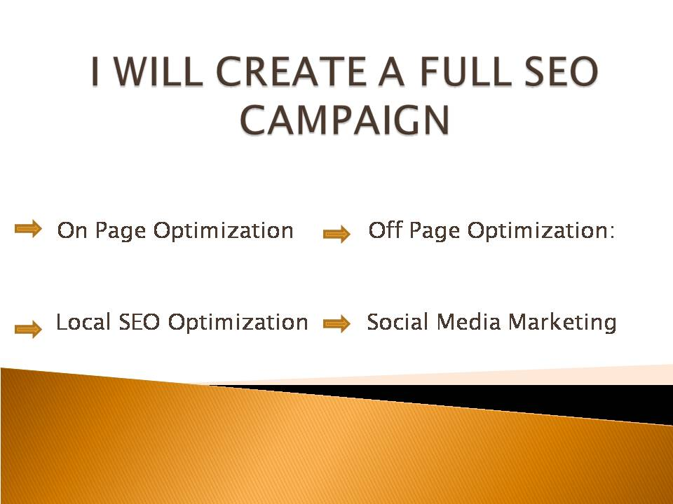 CREATE FULL SEO CAMPAIGN