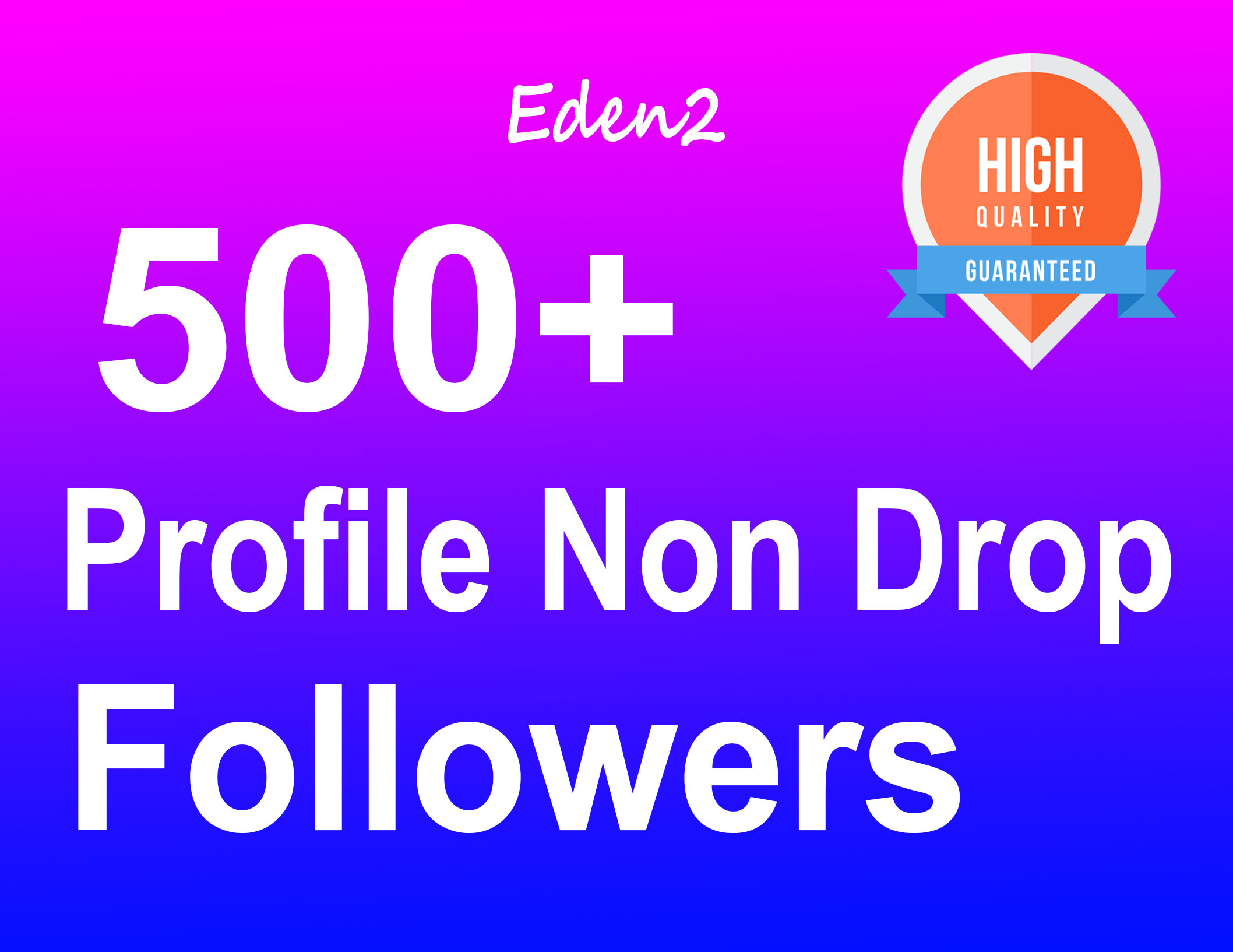 Add 500+ Profile Followers Safe High Quality & Non Drop