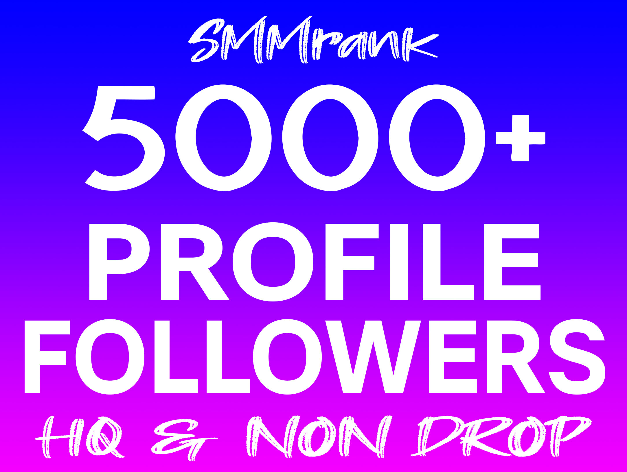Instant 5000+ Profile Followers Real High Quality & Non Drop